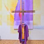 Violetter Wandbehang Ca. 5 M X 1,80 M Plane Bemalt, Messgewand Mit Skapulier