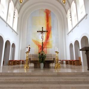 Kath. Kirche St. Nikolaus Lenzkirch Altarwandmalerei2009