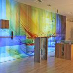 Giessen St. Josef Krankenhaus Kapelle Komplettgestaltung, 9 M X 2,60 M Glaswand, Lit. Funktionsorte, Wandgestaltung