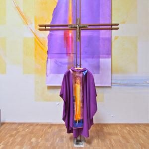 Wandtextil, Messgewand, Wandgestaltung, St. Elisabeth Auringen 2011