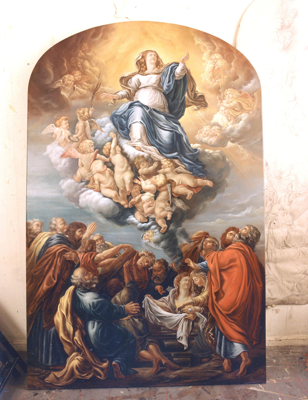 Altarbild Rubens Kopie in Öl 1994