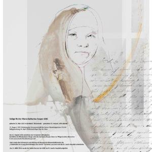 Heilige Katharina Kasper, Plakat 2017