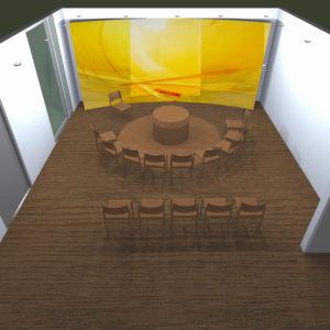 Modell Raum Der Stille, KH Bramsche