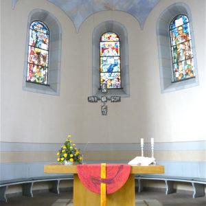 Altarantepenium, Entwurf E. Münch, Ausführung Paramentenwerkstätte Darmstadt