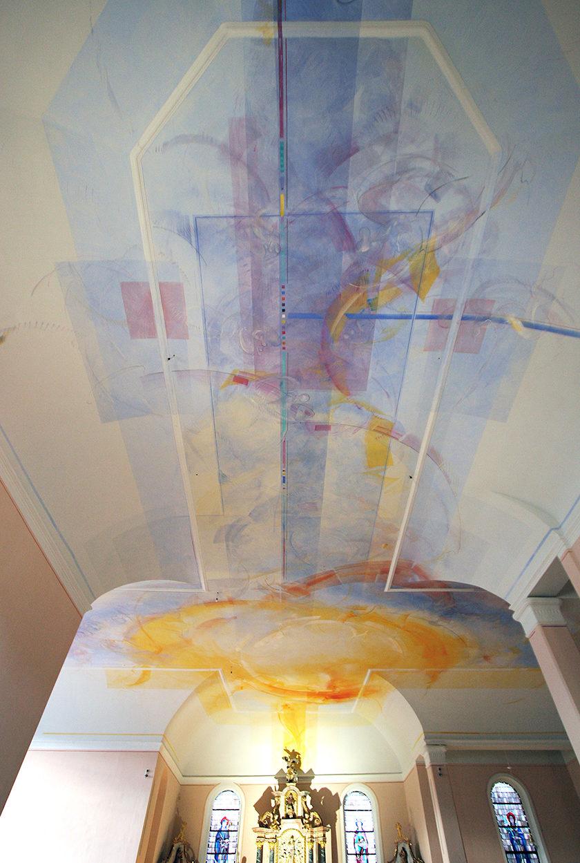 Kath.-Kirche-Waxweiler-400-m2-Deckenmalerei-Keim-Silikatfarben