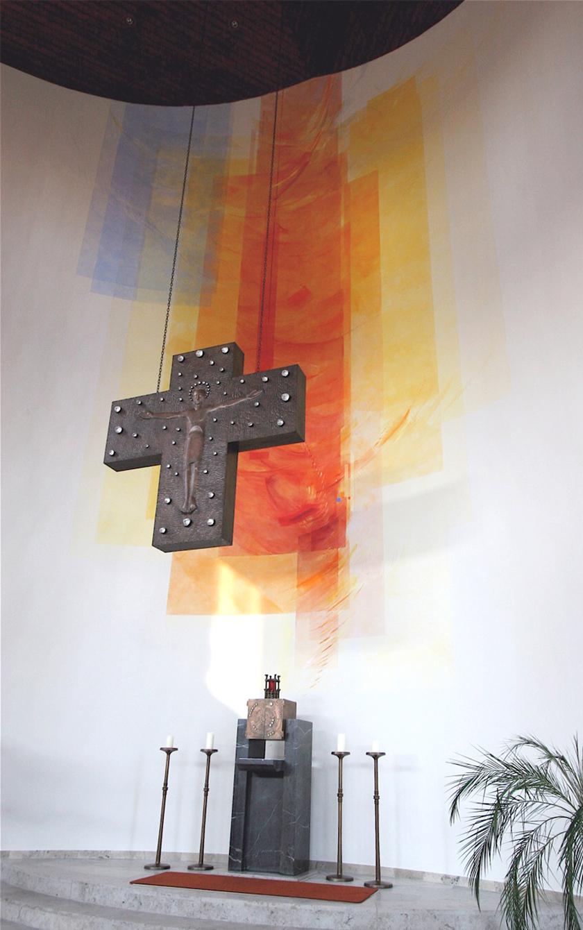 Kath. Kirche St. Stephan Dreieich- Sprendlingen, Wandmalerei_Silikatfarben