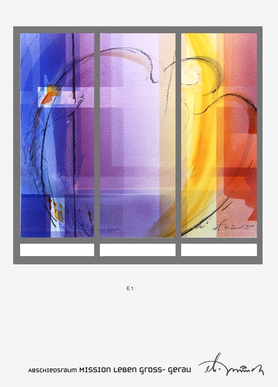 Abschiedsraum Mission Leben Gross-Gerau, Glasgestaltung 2011