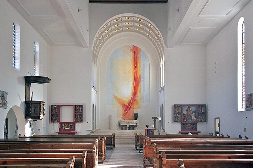 St. Nikolaus Lenzkirch, SchwarzwaldAltarwandmalerei und Raumfarbfassung 2009
