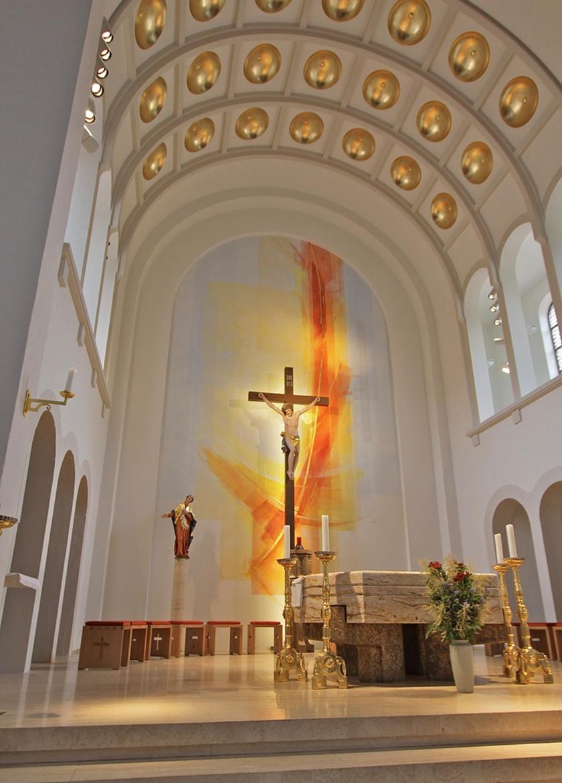 Altarwandmalerei und Raumfarbfassung St. Nikolaus Lenzkirch: Schwarzwald 11:2009__