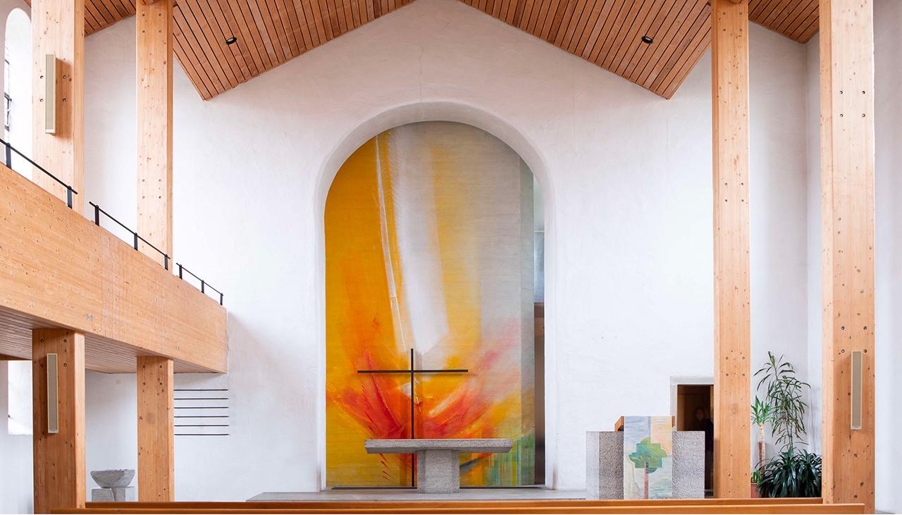 Ev. Kirche Hohebach, Altarwandmalerei 2019