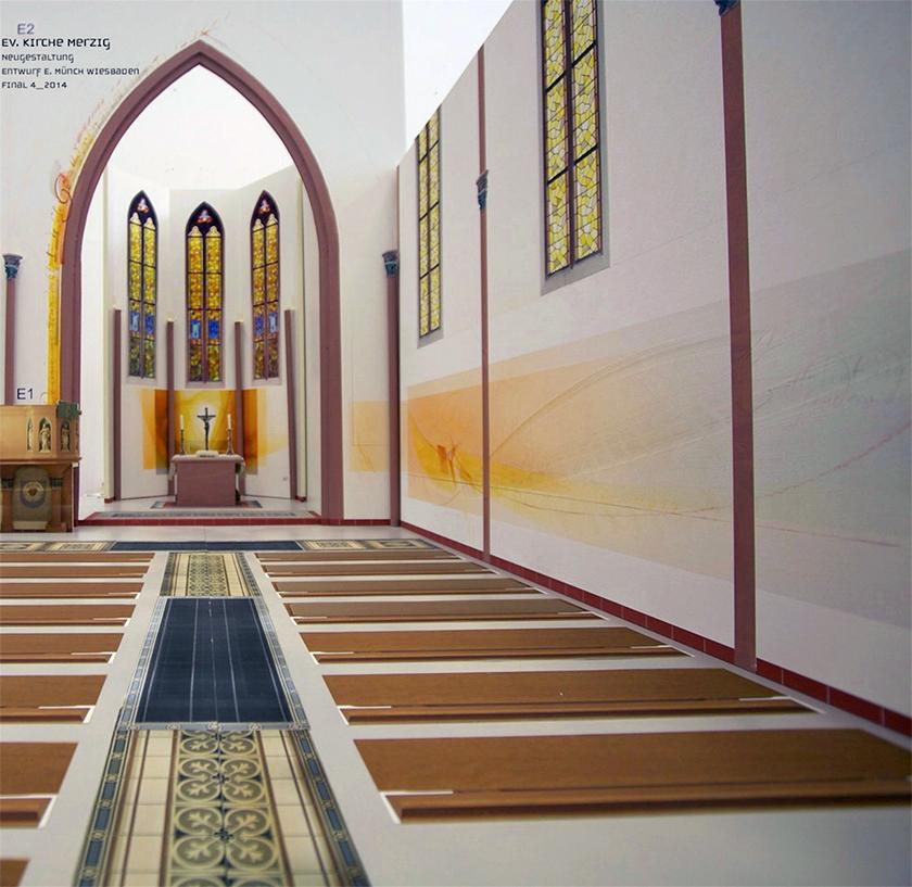 Ev. Kirche Merzig, Entwurfsmodell für die Neugestaltung