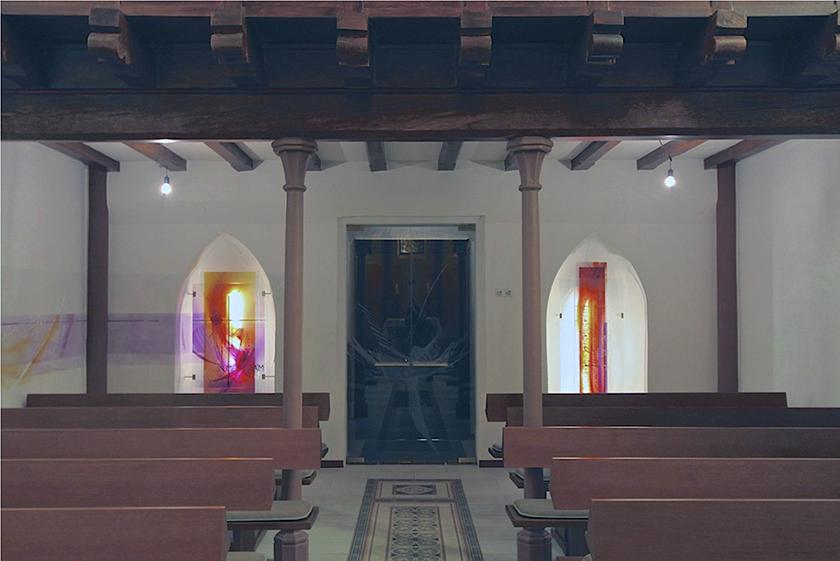 Ev. Kirche Merzig, Neugestaltung, 2014, Glasgestaltung