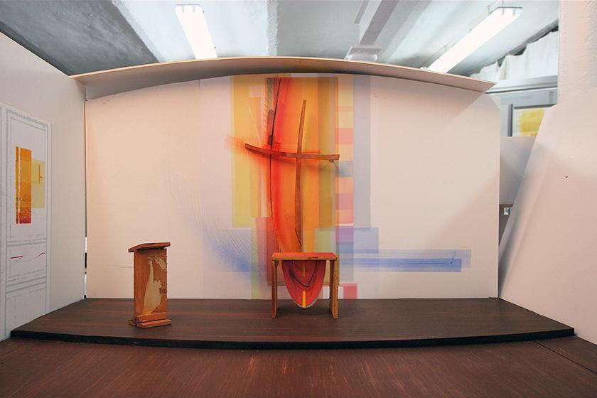 Ev. Kirche Worms- Herrnsheim, Komplettgestaltung, Modell 1: 10