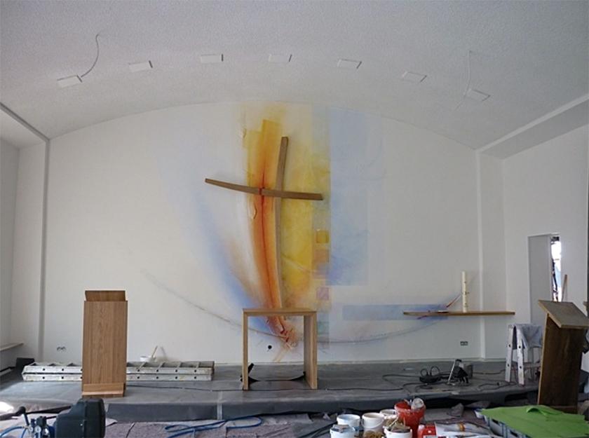 Ev. Kirche Worms- Herrnsheim, Komplettgestaltung