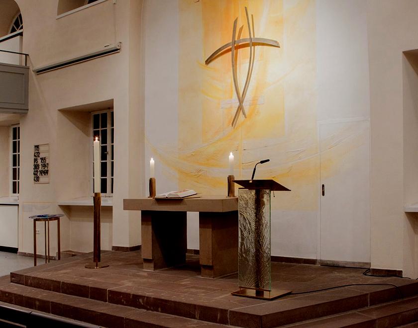 Ev. Thomaskirche Kassel- Oberzwehren, Neugestaltung Prinzipalien, 2016