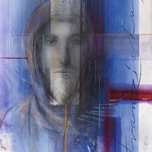 Heiliger Franziskus, 54 cm x 76 cm, Patell, Mischtechnik, 08/13