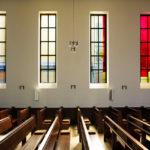 Heliandkirche Dortmund, Neugestaltung 12 Fenster Ausführung Fa. Derix/Taunusstein