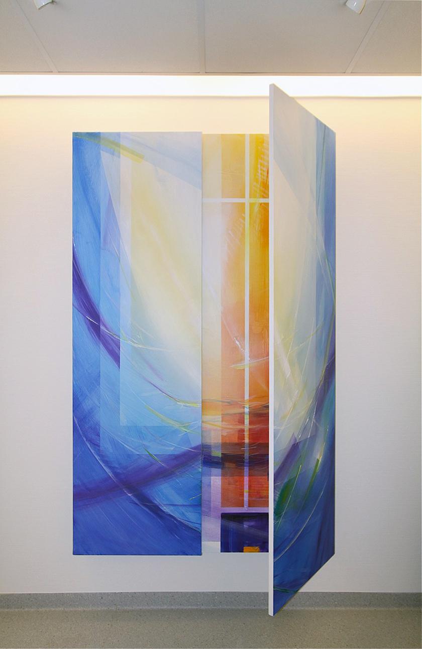 Herzklinik Bad Rothenfelde, Abschiedsraum,Triptychon Acryl auf Holz