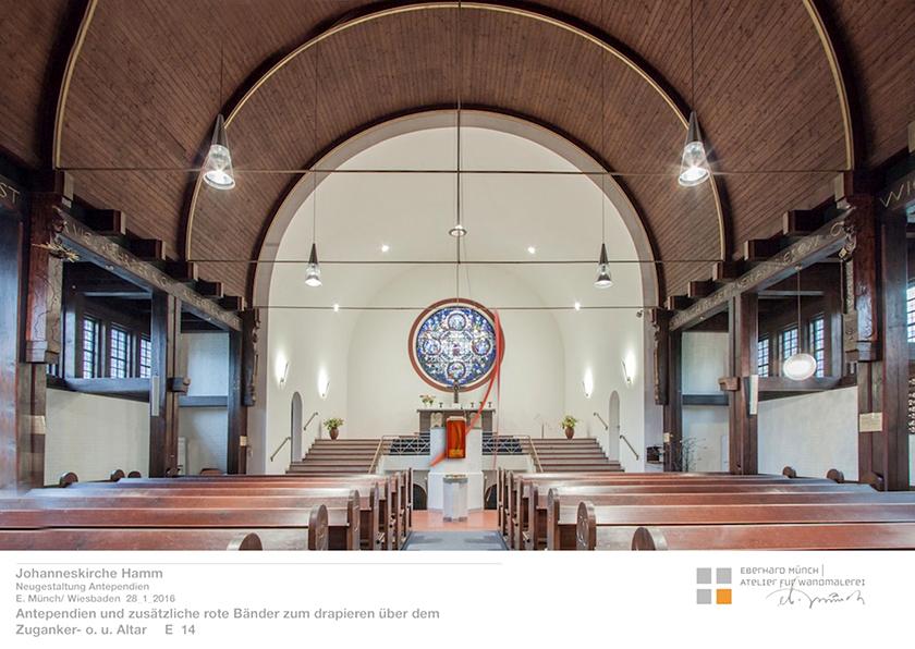 Johanneskirche Hamm, Entwurf Antependien