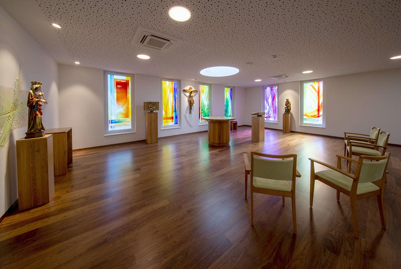 Kapelle Haus Bethanien Gengenbach, Franziskanerinnen vom Göttlichen Herzen Jesu, künstlerische Gestaltung E. Münch 2020