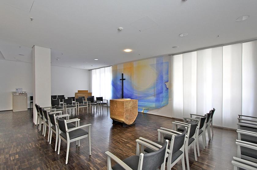 Kapelle Uni Gießen, Altarwandmalerei