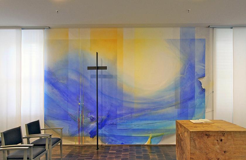 Kapelle Uni Gießen,Altarwandmalerei