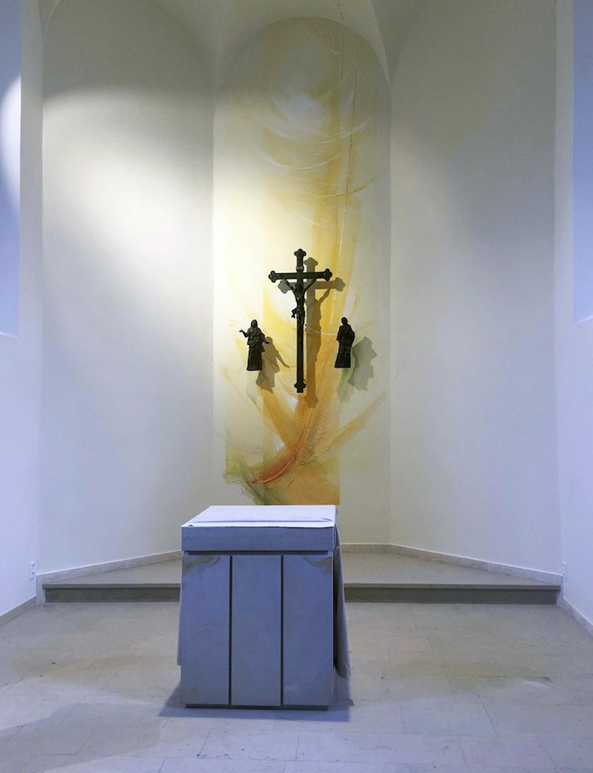 Kath. Kirche Bubenheim, Altarwandmalerei