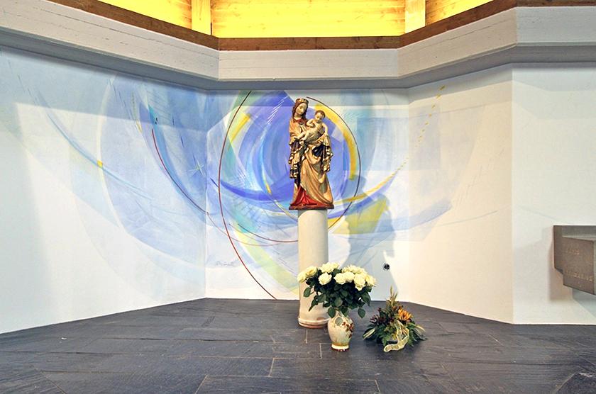 Kath. Kirche Gebhardshain, Wandgestaltung 2012