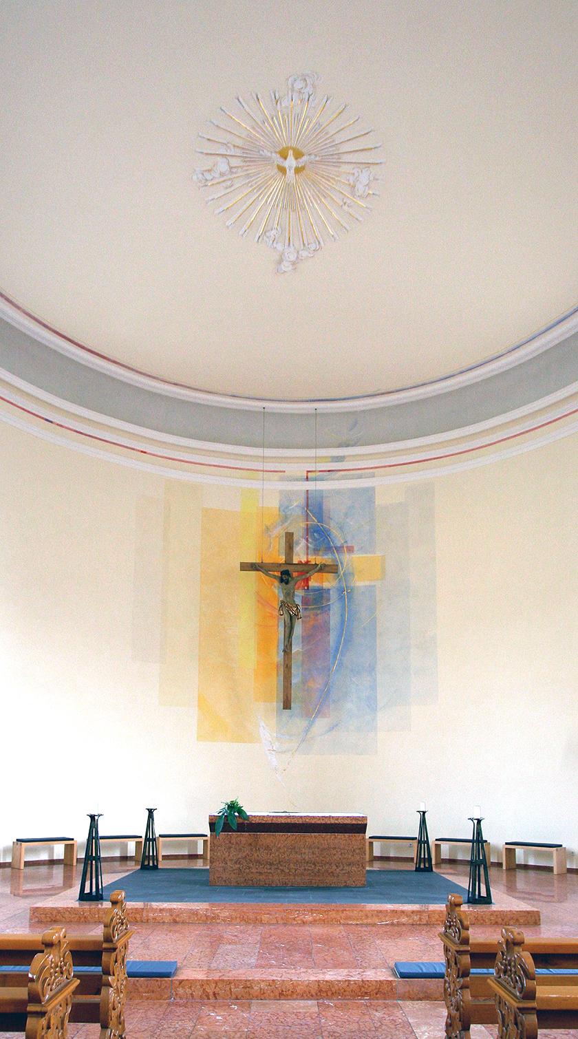 Kath. Kirche Neumagen- Dhron, Altarwandgestaltung und Raumfarbfassung, Silikatfarben 2009