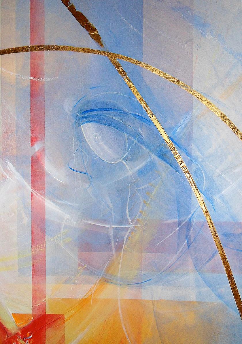 Kath. Kirche Neumagen- Dhron, Altarwandgestaltung und Raumfarbfassung, Silikatfarben 2009_