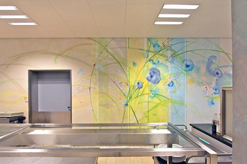 Klinik Worms, Wandmalerei, Restaurant Cafeteria