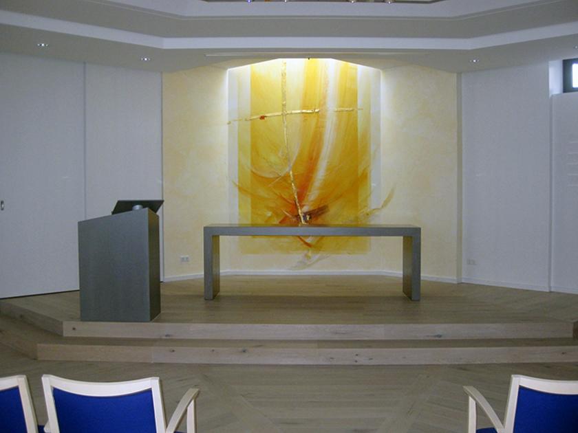 Krankenhauskapelle Wesel, Altarwandgestaltung
