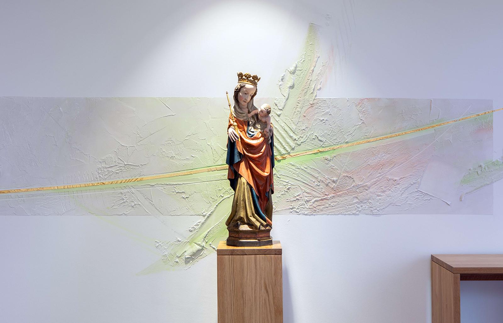 Hl. Maria Detail, Haus Bethanien, Gengenbach, 2020