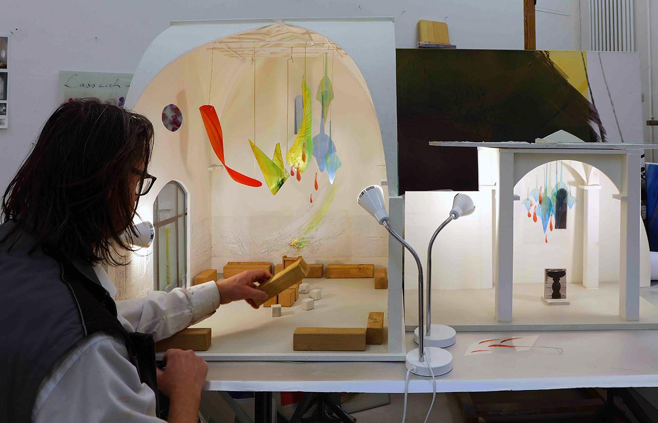 Modell 1:10 St. Markus Wittlich, Luftraumobjekt Glas, 2019