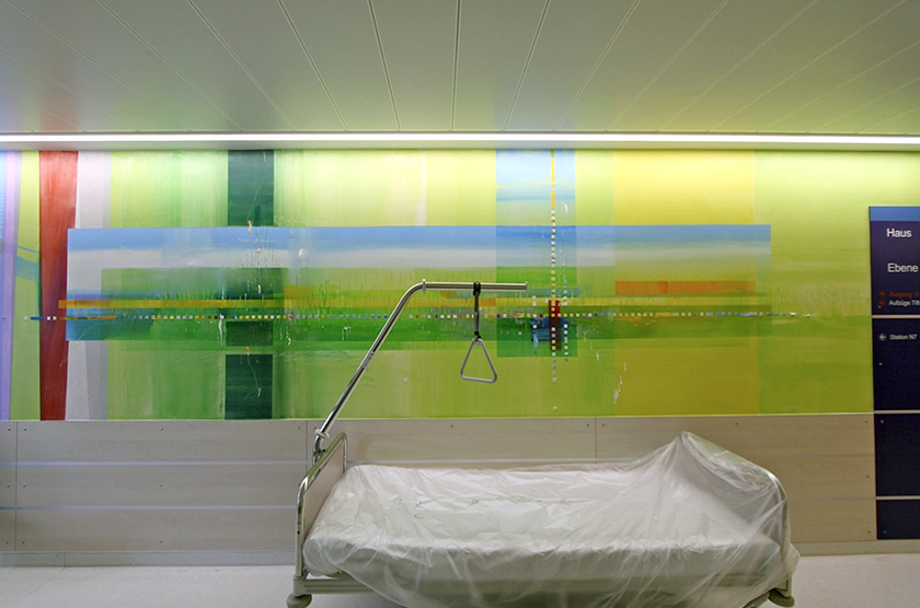 Mutterhaus der Borromäerinnen, Krankenhaus Trier, Wandmalerei auf 5 Etagen, Psalm 23