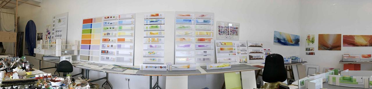 Entwurfsarbeiten im Atelier 2020