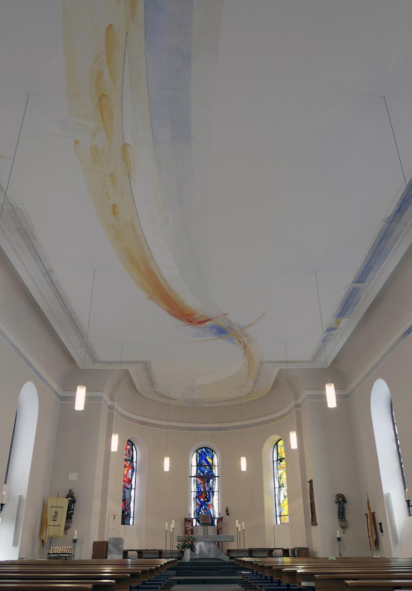 Deckenmalerei St. Laurentius Großkrotzenburg, 2017
