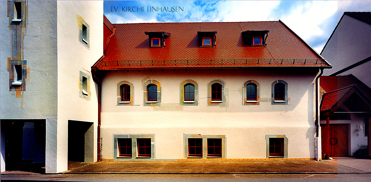 Ev. Kirche Einhausen Fassadenmalerei