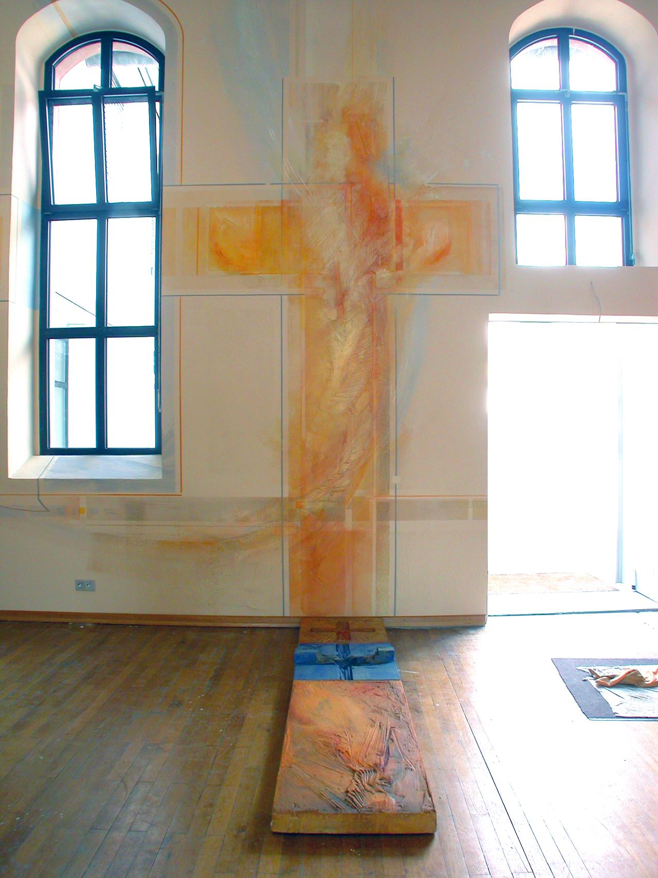 Ev. Kirchengemeinde Lampertheim, Farbgestaltung Gemeindesaal 2003
