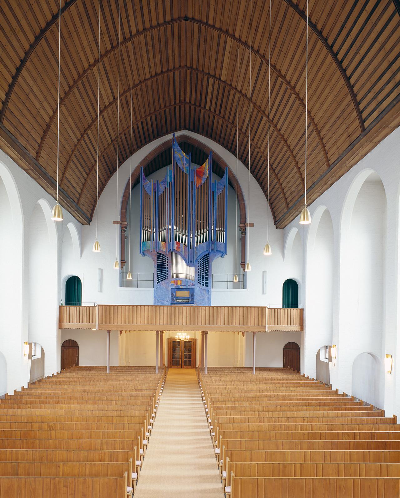 Farbgestaltung Orgelprospekt Domkirche Lampertheim 2005
