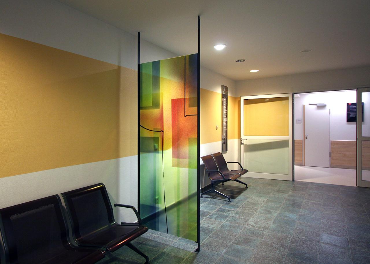 Hospital Bingen, Glasgestaltung 2005