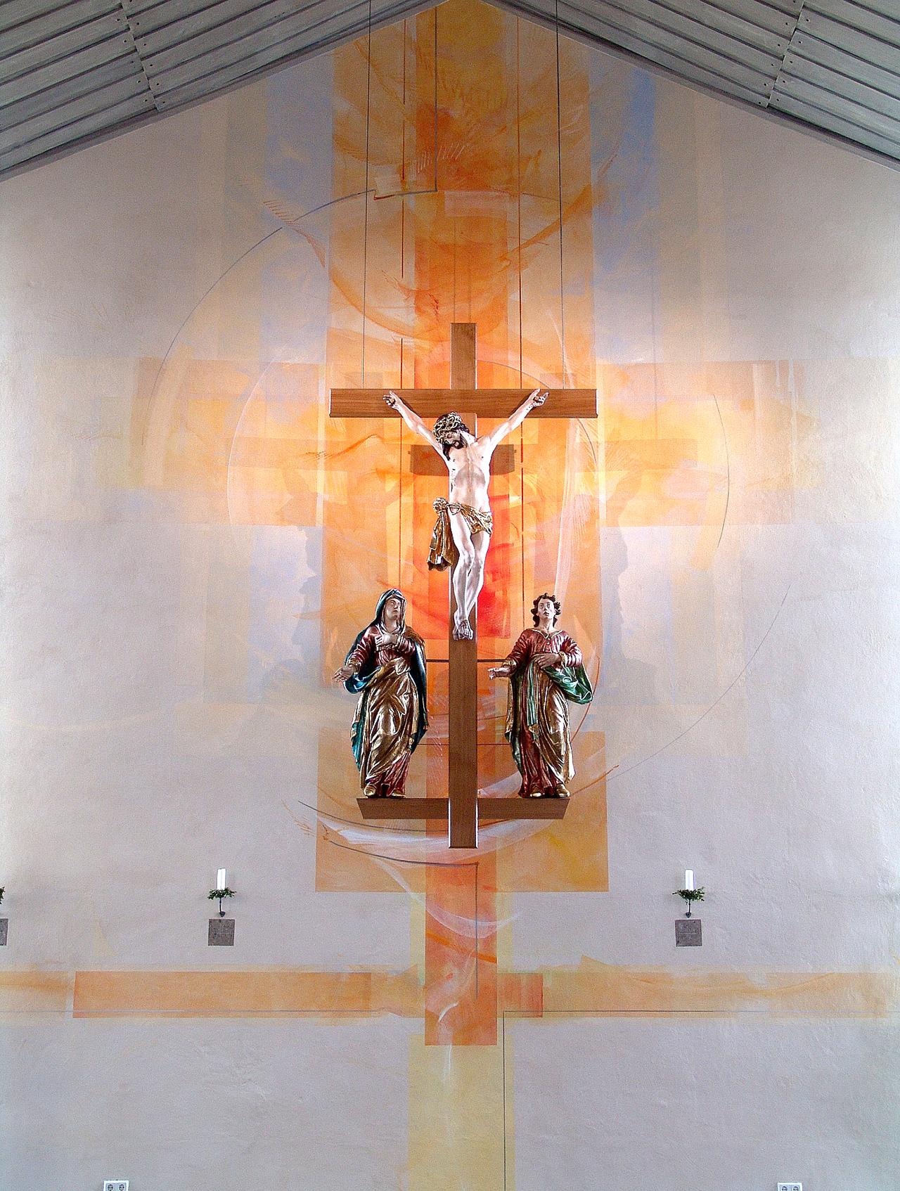 Kath. Kirche Monzelfeld, Farbgestaltung 2005