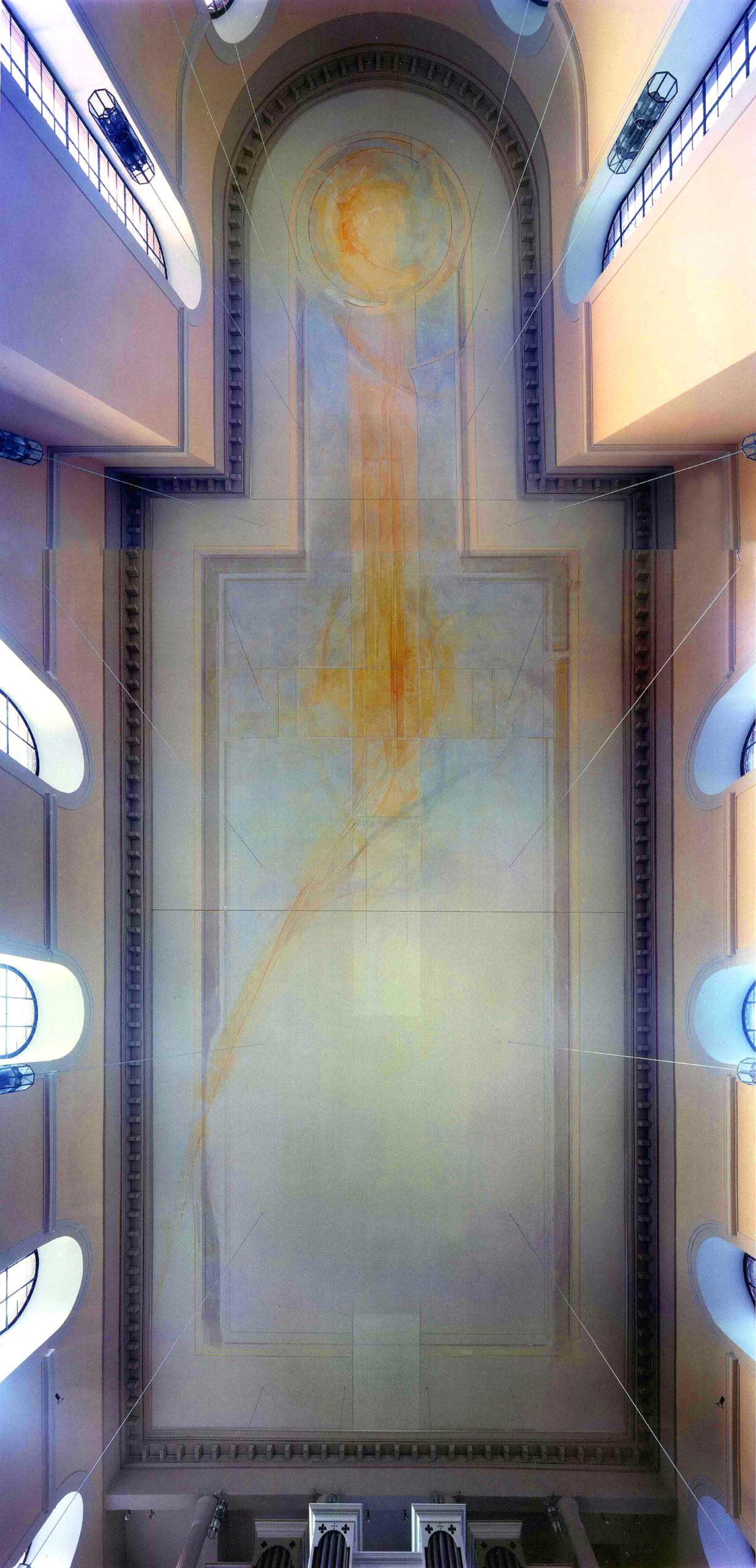 Kath. Kirche Neuwied-Irlich, Deckenmalerei beendet