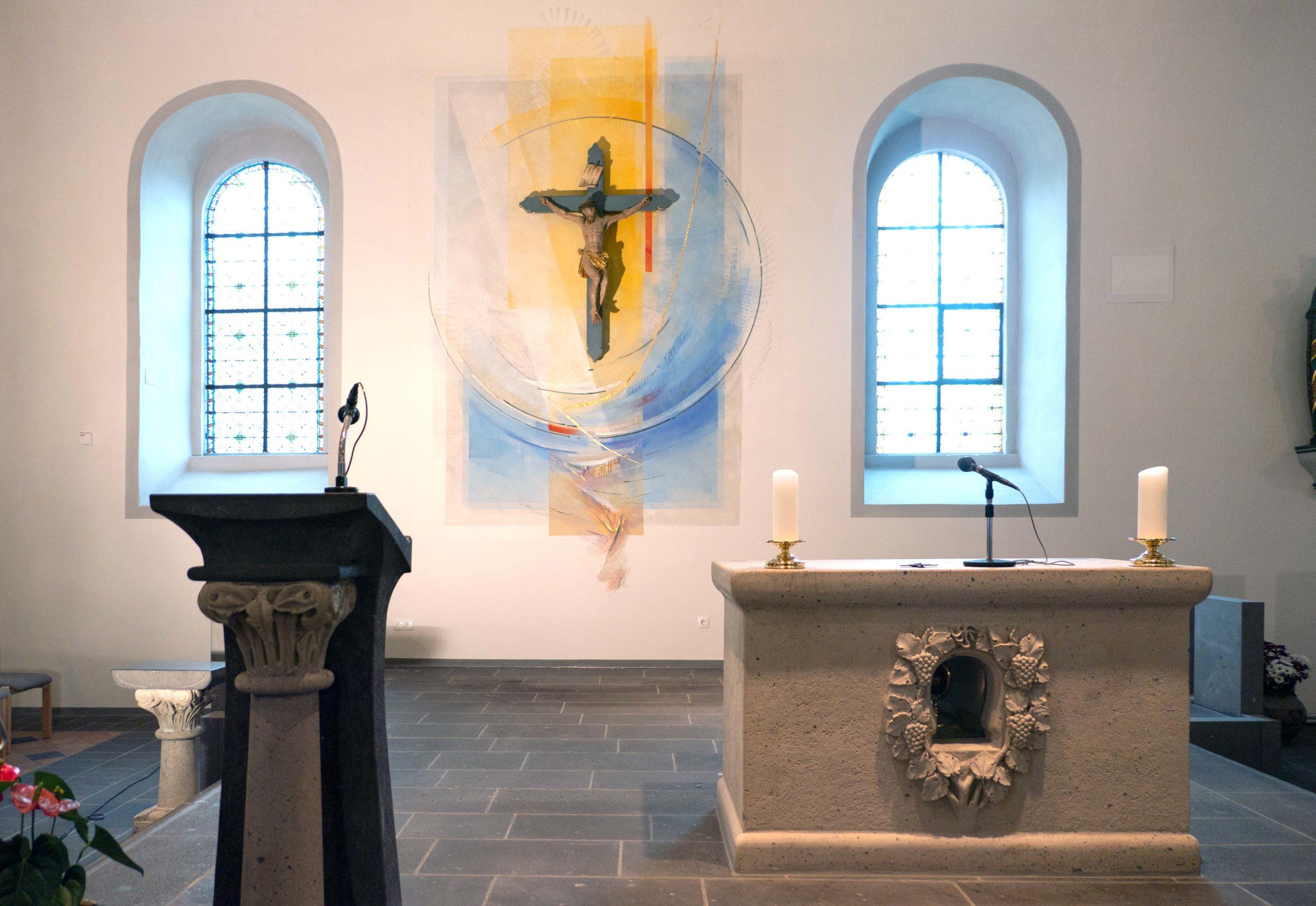 St. Castor Lehmen, Altarwandgestaltung 2019