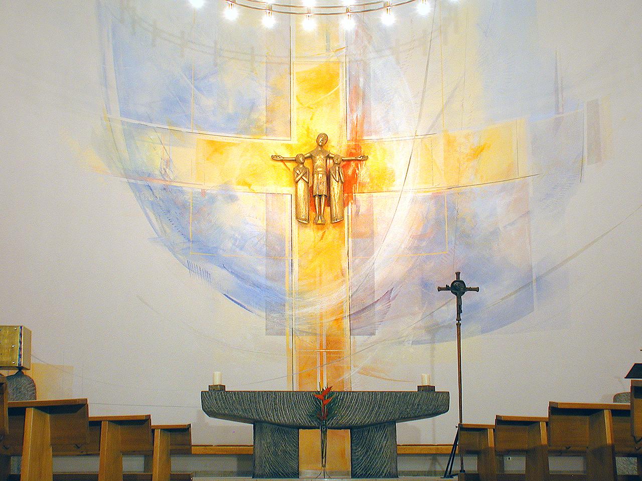 St. Peter Offenbach, Altarwandmalerei 2002