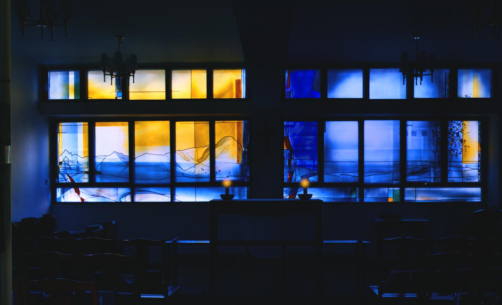 1998 Lee Fook HingChapel, Buntglasfenster Glasstudios Derix ©Goebel