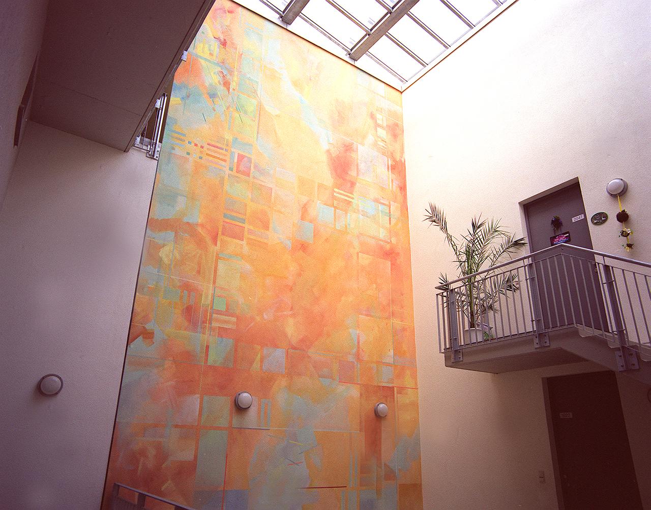 Wohnanlage Gestaltung Innenhof, 1997