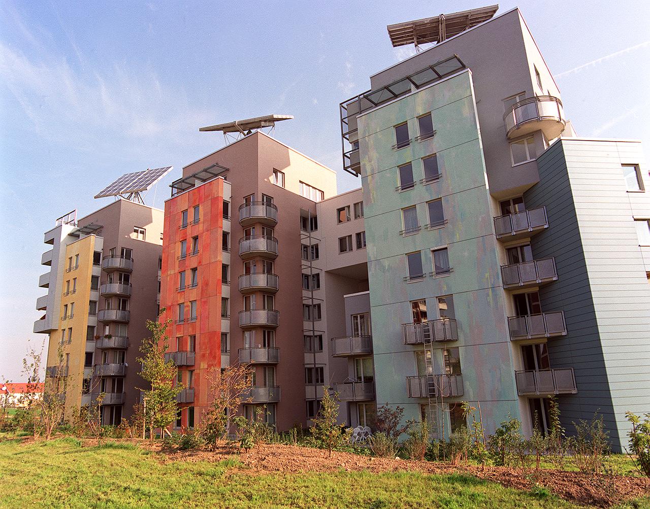 Farbgestaltung Wohnanlage Mainz- Kastel 1997